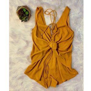 Sabo Skirt mustard playsuit
